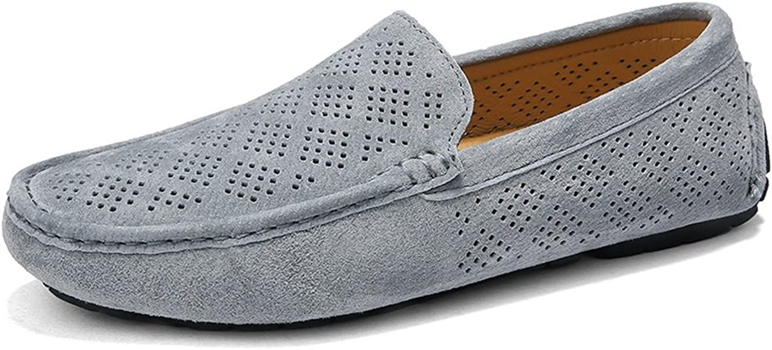 Z.L.F Oxford shoes Men Driving Fashion Loafers Breathable Perforation Genuine Leather Upper Boat Moccasins shoes