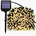 Solar Christmas String Lights,72FT 200 LED Waterproof Fairy String Lights Hanging for Indoor/Outdoor Commercial Decor Ambiance Lighting for Garden Backyard Wedding Holiday Party(8 Modes)