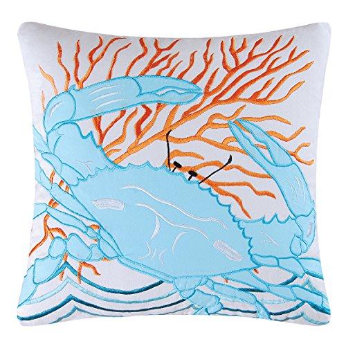 C&F Home C & Crab Pillow, Blu, 45,7x 45,7cm