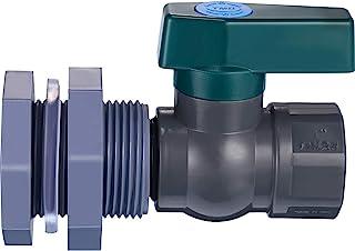 Mudder PVC Spigot Rain Barrel Faucet Kit Rain Barrel Valve with Bulkhead Fitting Adapter for Water Tanks, Aquariums, Tubs,...