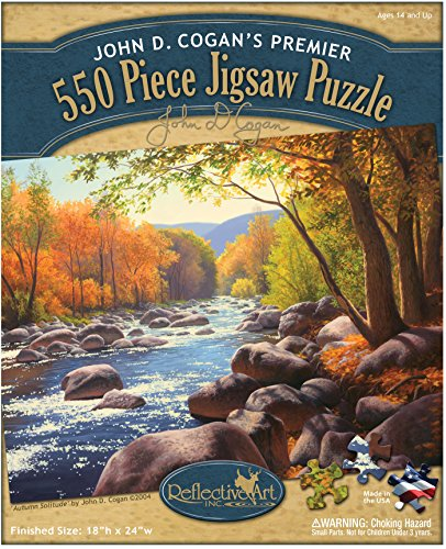 Reflective Art 550 Piece Autumn Solitude Jigsaw Puzzle Set, 11.5' L x 2' H x 9.5' w