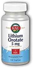 Lithium Orotate Kal 120 VCaps (Pack of 2)