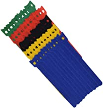"""TANKING 50Pcs Reusable Hook and Loop Fastening Cable Ties with Microfiber Cloth-6"""" x 1/2"""" (5 Color)"""