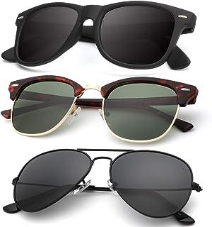 Classic Aviator Sunglasses for Men Women Driving Sun...