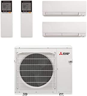 Mitsubishi MXZ-3C30NAHZ-2WF-05-30,000 BTU Hyper Heat Dual-Zone Wall Mount Mini Split Air Conditioner 208-230V (12-18)