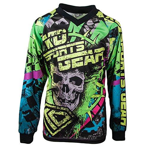 KO Sports Gear Motocross Jersey Skull Design (Youth X-Small)