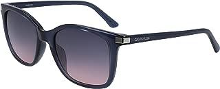 CALVIN KLEIN Women's Sunglasses Square, Ck American Essentials - Crystal Slate Blue
