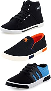 Maddy Men's Mesh Combo Of 3 Shoes - 2 Sneakers & 1 Loafer