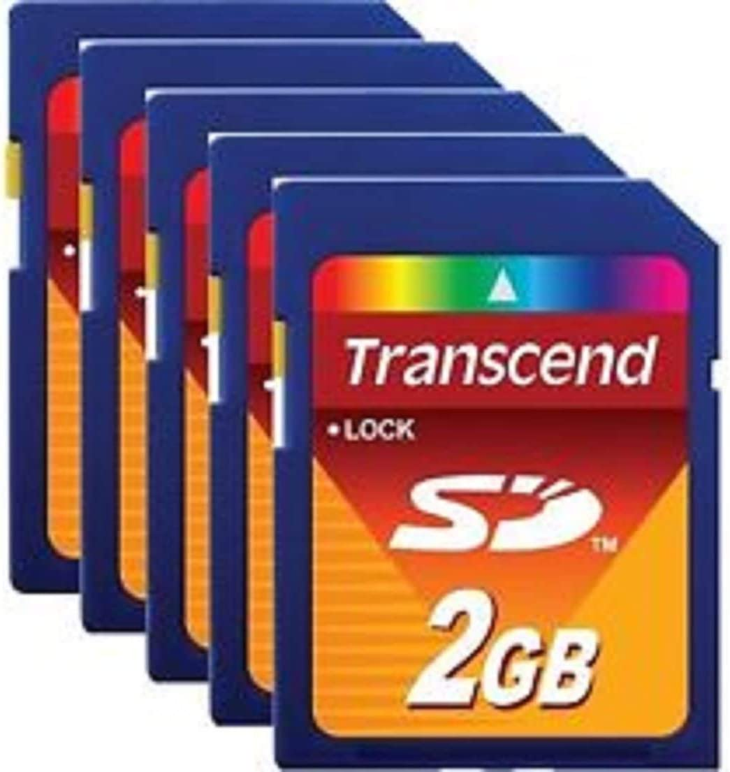 Lot of 25 Transcend 2 GB SD Flash Memory Card (TS2GSDC)