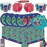 PJ Masks Party Vajilla Kit de Fiesta Infantil de cumpleaños para 16 -...