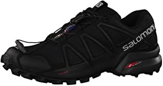 Salomon Men's Speedcross 4 Trail Running Shoes, Black (Black/Black/Black Metallic), 11 UK