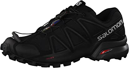 Salomon Men's Speedcross 4 Trail Running Shoes, Black/Black/Black Metallic