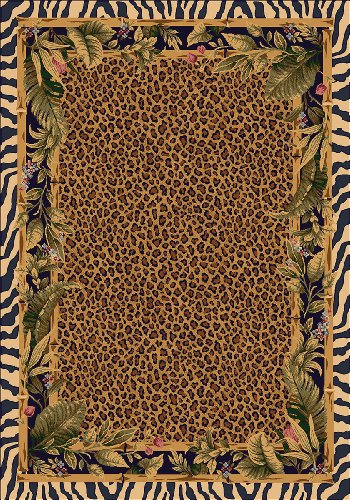 "Milliken TOP 30 Jungle Safari Rug Area Rug Skins/5'4"" x7'8/Rectangle/Nylon/Brown"