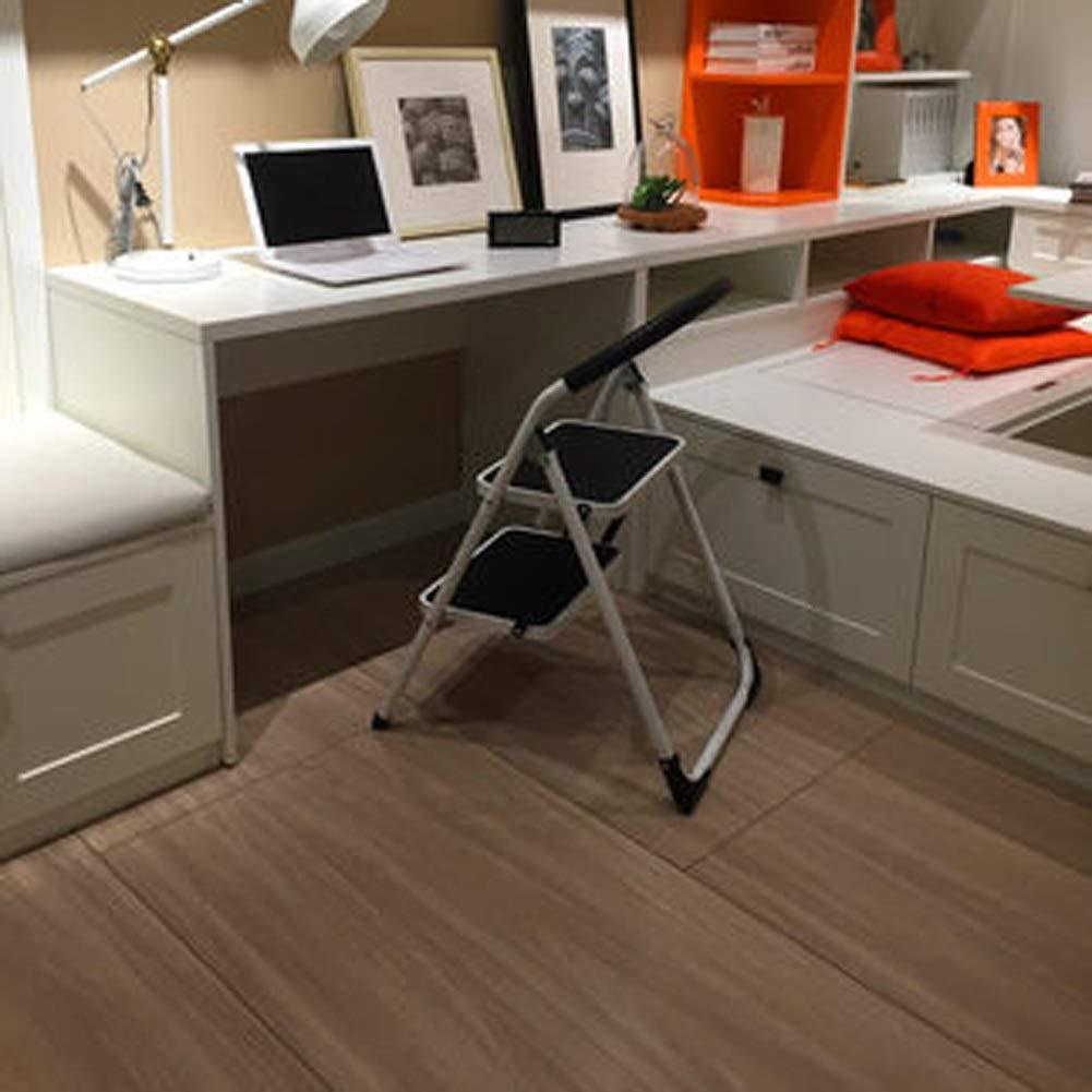 MMWYC Escalera de 2 peldaños portátil Plegable Antideslizante de Aluminio Escalera Seguro hogar Cocina taburete/18.5x23.2x32.3inch: Amazon.es: Hogar