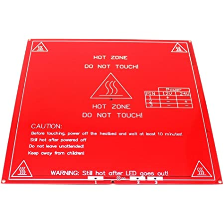 Robocraze 3D Printer PCB Heat Bed MK2B 12/24 Dual Power Supply 214 mm 214mm | 3D Printer Project (Pack of 1)