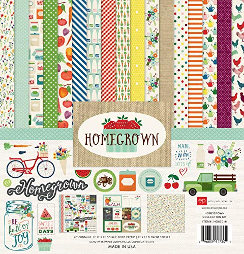 Echo Park Collection Kit 30,5 x 30,5 cm, Homegrown