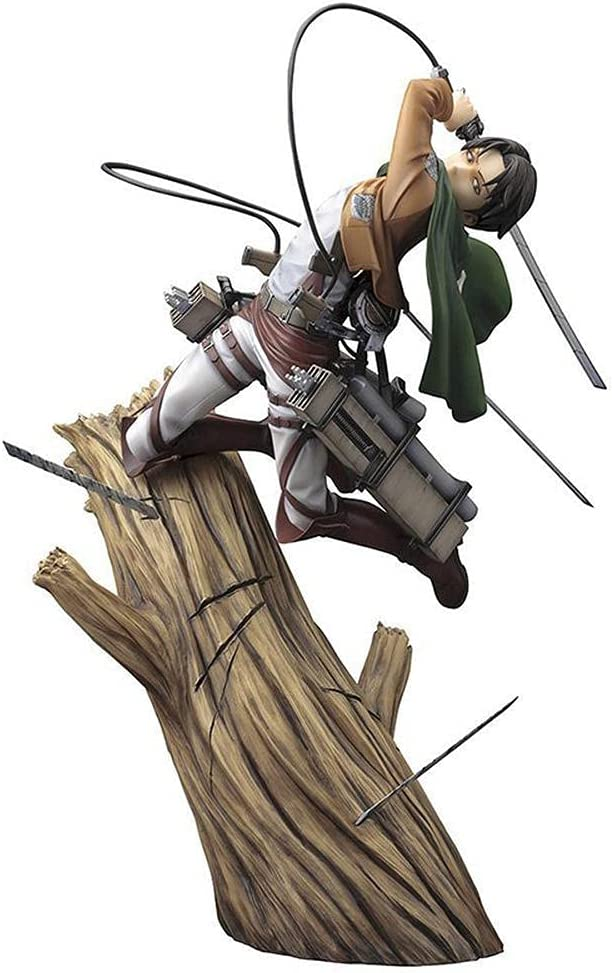 QWEIAS Attack On Special price for a limited time Titan Levi·Ackerman Statues Figure El Paso Mall Anime Action