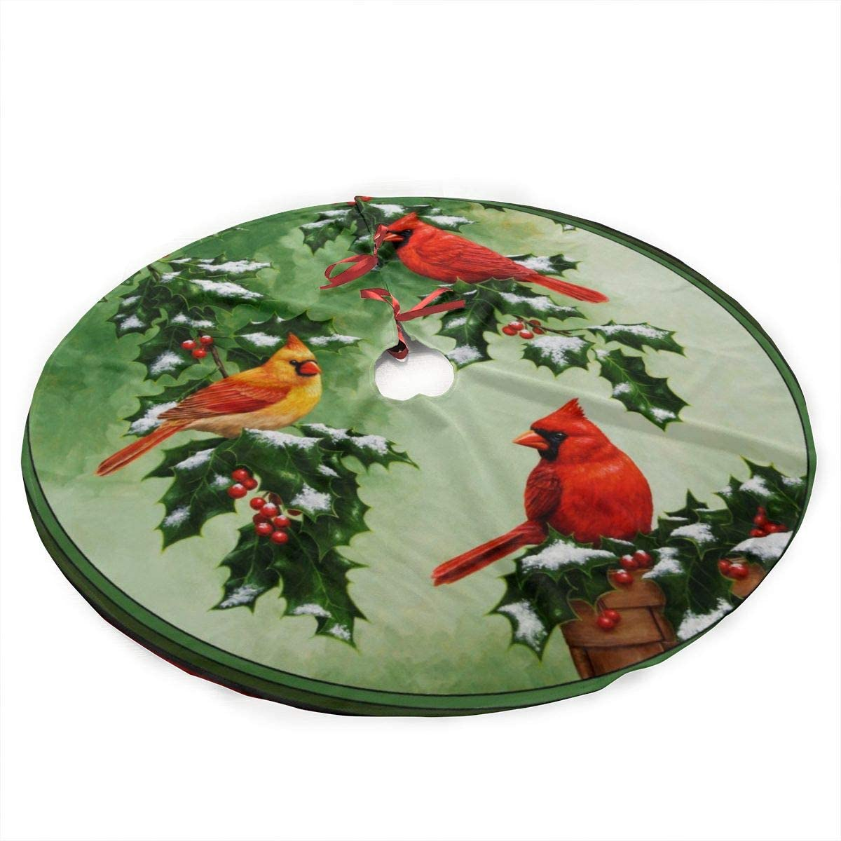 ALASFC Christmas Tree Skirt Popular products 35.5 and Hol Northern Cardinals Time sale Inch