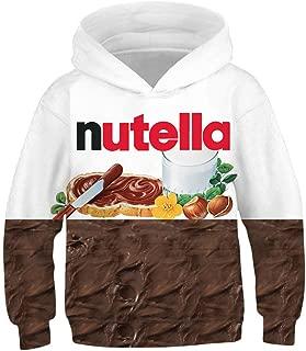 NEWCOSPLAY Unisex Kids Hooded Realistic 3D Galaxy Digital Print Sweatshirt Baseball Jersey for Boys Girls