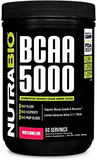 NutraBio BCAA 5000 Powder - 60 Servings (Watermelon)