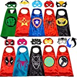 Superhero Capes Set Superhero Double Side Cape and Mask for Kids Superhero Halloween Toy Gifts for Kids