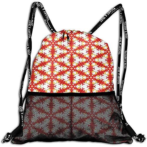 Not applicable Muster-Sequenz-Motiv-Entwurfs-personalisierte Zugschnur-Rucksack-Maschen-Tasche Unisex für Reise-Fitness