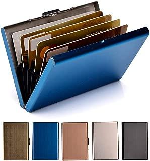 EASTNIGHTS RFID Credit Card Holder Metal Wallet Stainless Steel Credit Card Protector Case for Men or Women