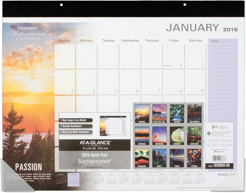 AT-A-GLANCE AT-A-GLANCE AT-A-GLANCE Desk Pad Calendar 2016, Successories Motivational, 21-3 4 x 15-1 2 Inches (SKW800-00) by At-A-Glance B00WUULVKQ | Verschiedene aktuelle Designs  57cc60