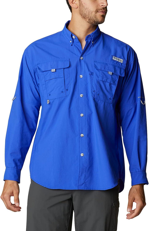Columbia Men's PFG Bahama II UPF 30 Long Sleeve Fishing Shirt