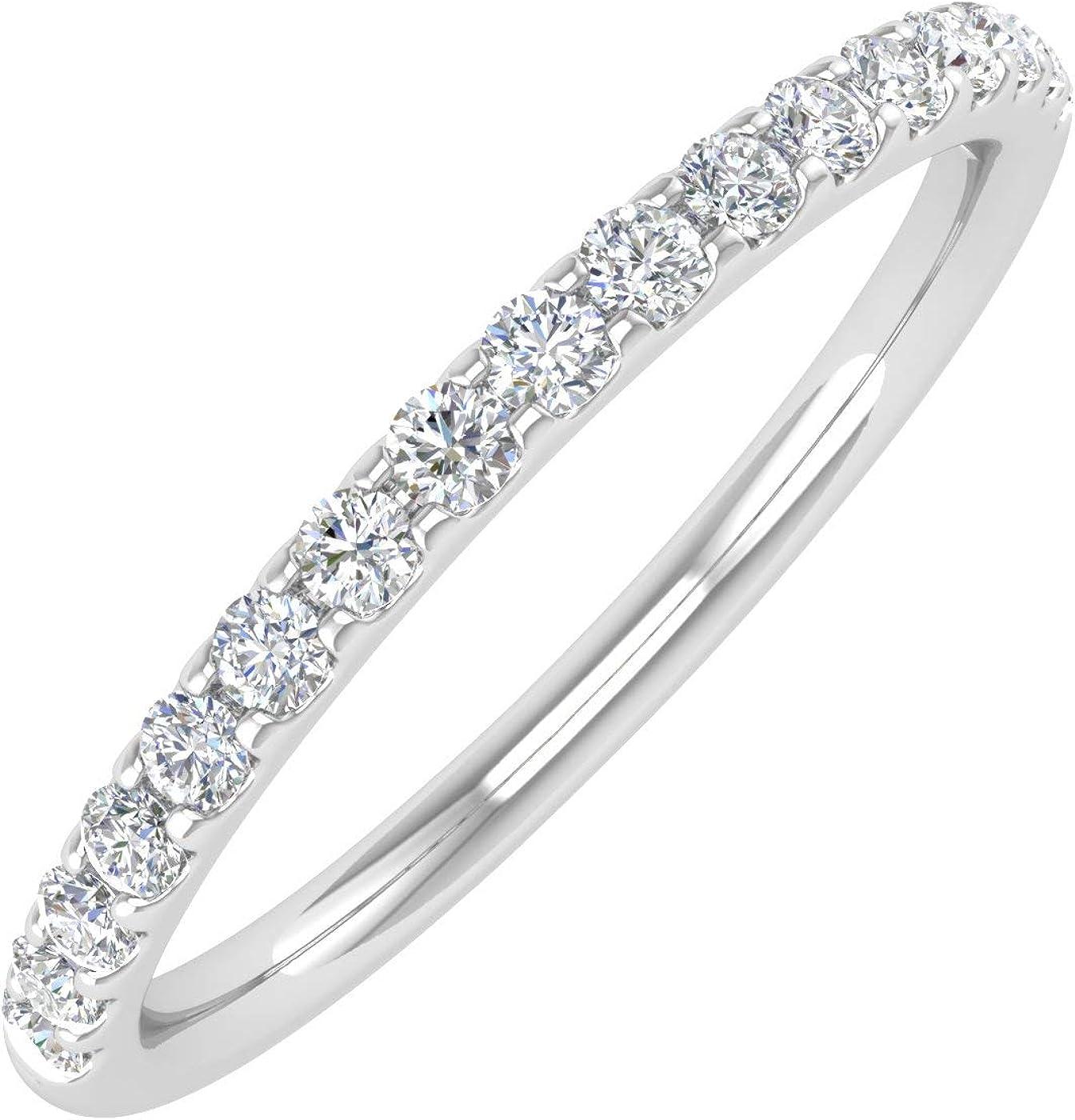 1/4 Carat Diamond Womens Wedding Band in 14K Gold