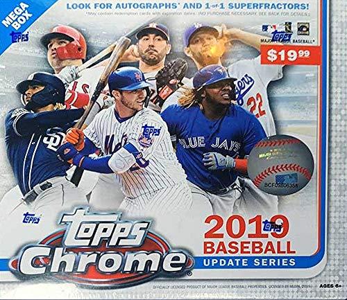 2019 Topps Chrome Update MLB Baseball MEGA box (pp $19.99, 7 pks/bx)
