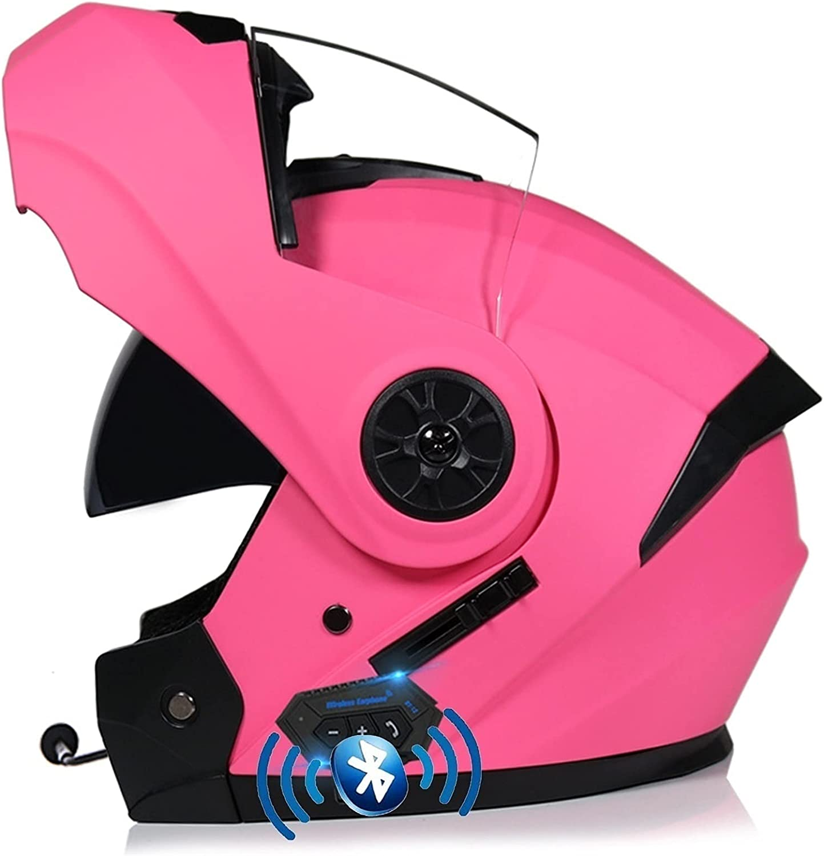 ZWJ Casco de Moto con Guantes Máscara Doble Anti-Niebla Viseras Helmets Four Seasons Color: A-B Full Face Crash Motorcycle Bluetooth Casco, ECE/Dot Aprobado (Color : B, Size : S)