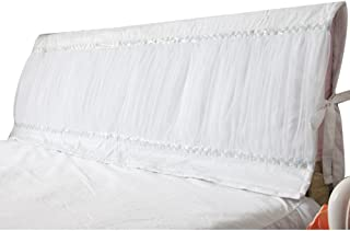OLizee Romantic Bed Headboard Slipcover Protector for Bedroom Decoration(White,59