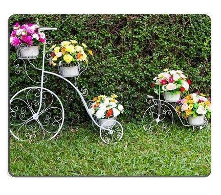 (Precision Lock Edge Mauspad) Mauspad Gaming Mauspad Fahrrad Erfinder von beiden mit schönen Blumen auf dem Gras 300X150X3mm geschmückt