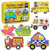 Puzzles de Madera Niños,Juguetes Bebes para 1 2 3 4+ año,Transporte...