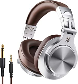 Wireless/Wired Musical Instrument Headphones Wired Headset with 3.5mm & 6.5mm Audio Cables for Electrical Piano Electronic...