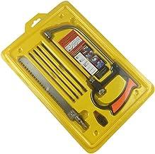 Juego de mini sierra de mano mágica multiusos, kit de herramientas para cortar madera, plástico, aluminio, vidrio, azulejos, tubería de PVC, rojo