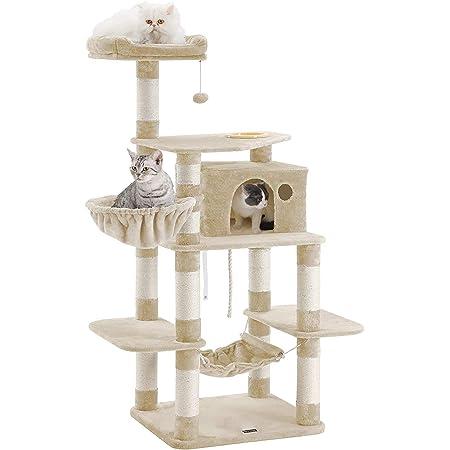 FEANDREA キャットタワー 巨大サイズ 太さ爪とぎ柱 大型猫 運動不足対応 多頭飼い NPCT99M
