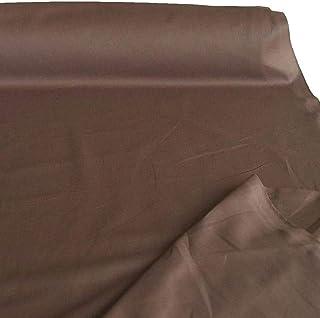 TOLKO Baumwollstoff | 42 kräftige ÖkoTex Farben Baumwoll-Nesselstoff uni Kleiderstoff Dekostoff | Baumwolle Meterware 150cm breit | Vorhang-Stoff Bezugsstoff Webstoff 50cm Braun