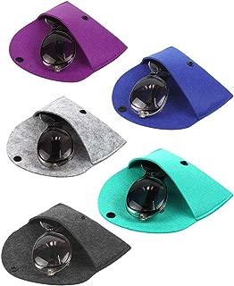 JAVOedge [5 PACK / 2 PACK] Multi Colors Felt Slip In Eyeglass Cases with Microfiber Cloth for Sunglass & Reading Glasses