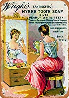 Tooth Soap メタルポスター壁画ショップ看板ショップ看板表示板金属板ブリキ看板情報防水装飾レストラン日本食料品店カフェ旅行用品誕生日新年クリスマスパーティーギフト