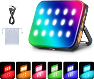 Neewer Outdoor Waterproof RGB LED Camping Lantern Light, Rechargeable 3000mAh Emergency Light Night Light Dimmable 3200K-6...