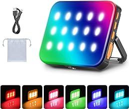 Neewer Outdoor Waterdichte RGB LED Camping Lantaarn Licht, Oplaadbaar 3000mAh Noodlicht Nachtlampje Dimbaar 3200K-6500K/In...
