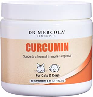 Dr. Mercola, Curcumin, for Cats and Dogs, 4.30 oz (122.1 g), with Microactive Curcumin (Root), Supports a Normal Immune Response, Non GMO, Soy Free, Gluten Free