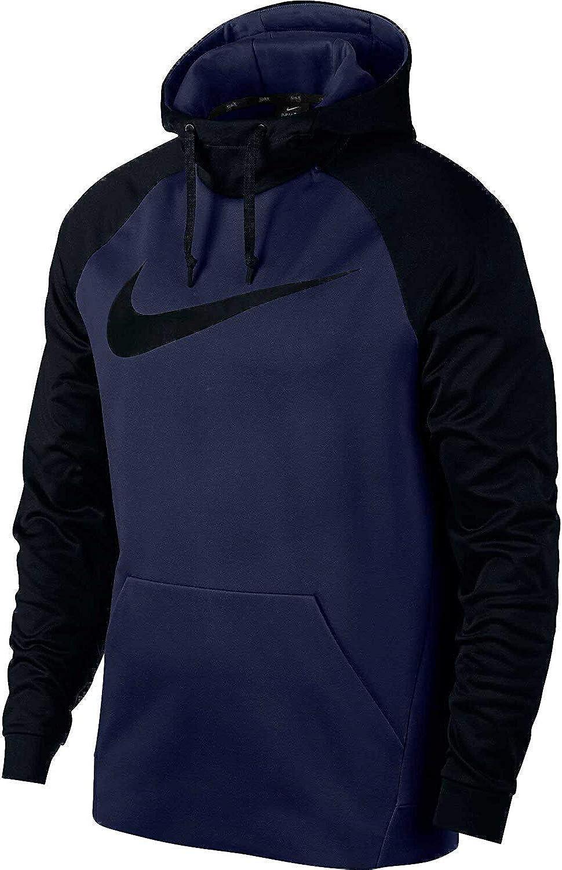 Nike Mens Therma Club Logo Pull Over Hooded Sweatshirt