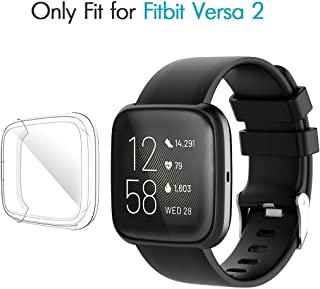 M.G.R.J® Case for Fitbit Versa 2, Soft TPU Clear Cover for Fitbit Versa 2 Smart Watch with Full Protection (Transparent)