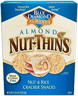 Blue Diamond Almonds Nut Thins Cracker Snacks, Original, 4.25-Ounce Boxes (Pack of 12)