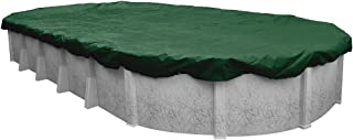 Pool Mate 371625-4-PM Forest Green Winter Pool Cover for Oval Above Ground Swimming Pools, 16 x 25-ft. Oval Pool