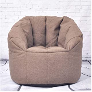 RKRCXH Living Room Beanbag Home Sofa Bean Bag Multiple Sizes And Colors Great For Any Room Sofa And Giant Lounger Furniture For Kids Teens And Adults  Color Brown  Size 29 5x29 5x14 6in