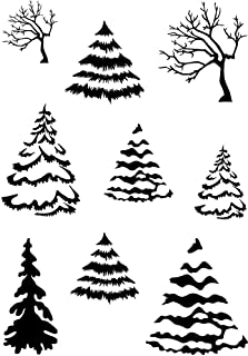 Card-io Winter Woods Clear Stamp Set, 10.5x7.4x0.3 cm, Transparent